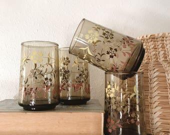 Vintage 1960s juice glasses / drinking glasses set of four