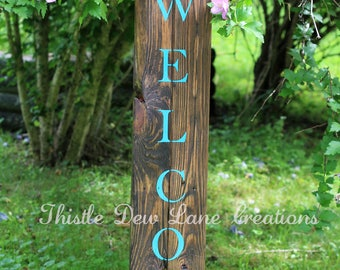 Welcome pallet sign, Front porch sign