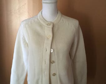 1950's- 1960's Handmade Cardigan Sweater (Small) • Vintage Sweater