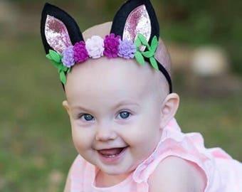 kitten play ears - cat costume - kitten ears - girls cat costume - cat headband - cat ear head band - kitty ears headband - 1st bday gift