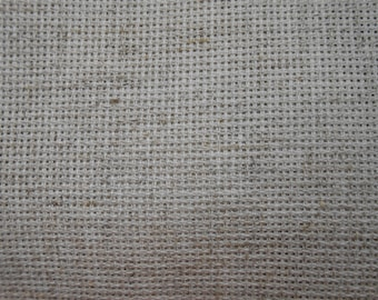 Gray linen canvas for Embroidery, Canvas for crevel, cross stitch embroidery,natural linen cloth for embroidery, fabric for embroidery