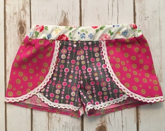 Boho size 2T dots and lace shorts