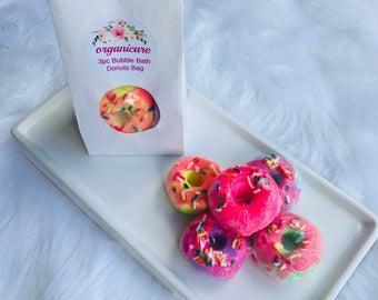mothers day 3pc mini donut bag  bubble bars , wholesale bubble bars