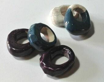 Handmade ceramic rings