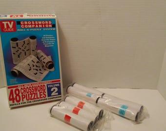 Vintage TV  Guide Crossword Puzzle Refill Volume 2. 1995