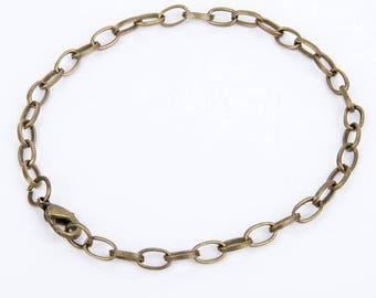 Bronze color chain bracelet