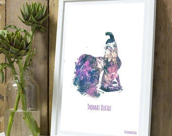 Thomas Dufau color A4 unframed print