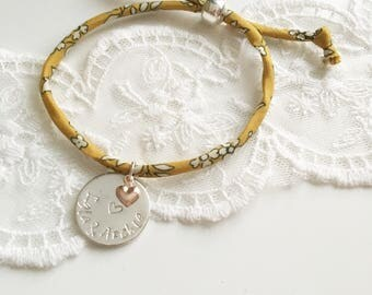 Silver Plated Liberty fabric Bracelet