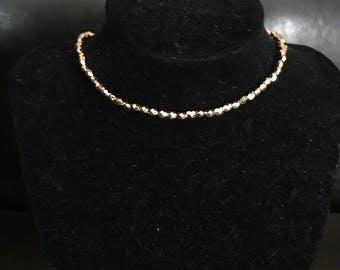 simple beaded choker