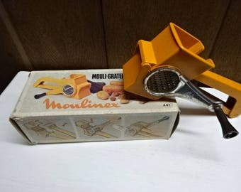 Moulinex/Mouli Grater/with Removable Drum/Collectable/Vintage/1970s