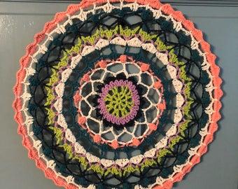 "Crochet 20"" Mandala Wall Decor"