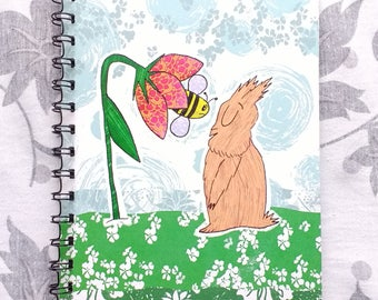 Bunny and Bee A5 notebook