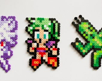 3pc Final Fantasy VI / 6 / 3 / III Terra and Cactuar Beadsprites
