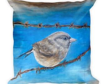 Bird pillow, Birdwatchers gift, gift for birder, wildlife decor, bird cushion, Nature pillow, bird home decor, decorative pillows, Finch