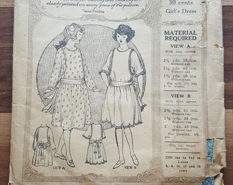 """1920's The New McCall Pattern """"Girl's Dress Size 10""""  No. 2282"""