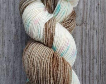 "Hand-Dyed Wool/Nylon Sock Yarn - ""Surfside Beach"""
