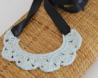 Crocheted necklace for women. Crochet necklace for girl.
