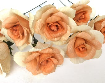 Corn Husk Flowers 10 pcs.  for Weddings and Home Decorations. DIY. Roses from corn husk Eco friendly Products