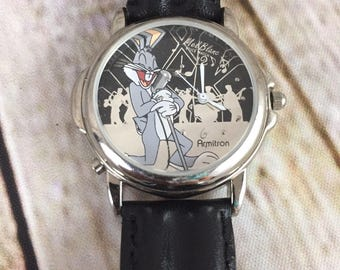 Vintage 1998 Armitron Warner Brothers BUGS BUNNY Watch Mel Blanc Voice Watch
