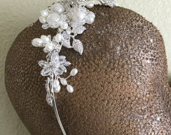 Pearl and Diamond Headpiece