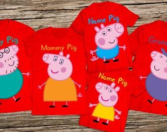 Peppa pig family shirts, Daddy pig shirt, Peppa pig birthday shirt, Mommy pig shirt, Peppa pig shirts, Mommy and me pig shirts, Pig shirt