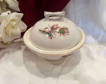 Antique Warranted Ironstone covered dish/bowl
