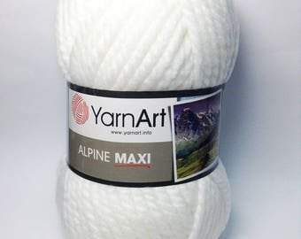 YarnArt ALPINE MAXI 40 wool 60 acrylic - Choose colour - Wool Yarn - Winter Yarn - Warm Yarn - Fall Yarn  - Blend wool acrylic yarn