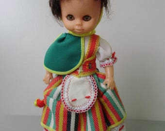 Lovely vintage doll in folk/traditional cloth