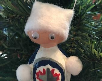 Hockey Christmas Ornament Winnipeg Jets Walnut Stocking Stuffer