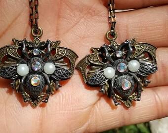 Embellished bee earrings