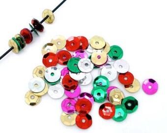 400 mixed glitter Sequins embellishment 7mm round