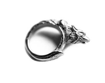 Howl | Ring in Silver ~ Werewolf Howling Ring by Trickery