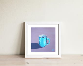 Espresso Cup painting. Limited edition art print