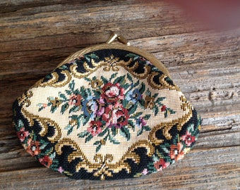 Vintage Tapestry Coin Purse Wallet coinpurse/vintage/tapestry/needlepoint