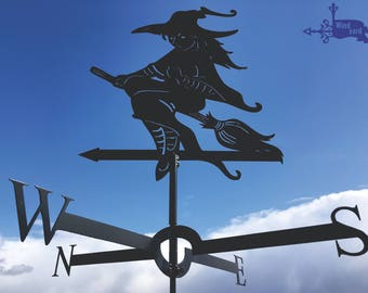 WITCH 2 Metal Plasmacut Wind Direction Roof Decor