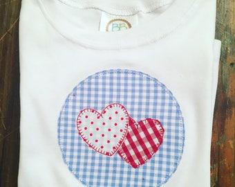 Boy's long sleeved valentine's day shirt