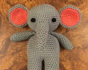 Crocheted stuffed Elephant