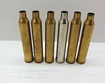 7mm STW Reloading Brass Casings-32 Empty Clean Rifle Brass Casings-7mm STW Brass Cases for Reloading Bullets-7mmSTW Range Brass