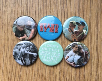 stand by me set of 6 button badges