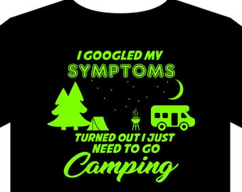 Camping T Shirt - Sizes S to 5XL - campervan - tent - motorhome - gift - camp
