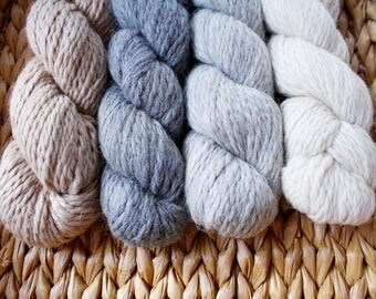 Extra Soft  Chunky Weight Llama Wool, Knitting Yarn, Soft Wool, in Natural Llama Colours* Illimani Llama II