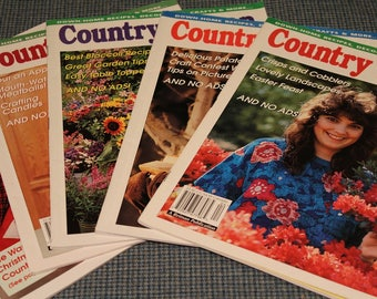 5 - Country Woman Magazines ~ Back Issues ~ Crafts ~ Home Cooking Recipes ~ Country Life ~ Beautiful Photography ~ Vintage Collectible~