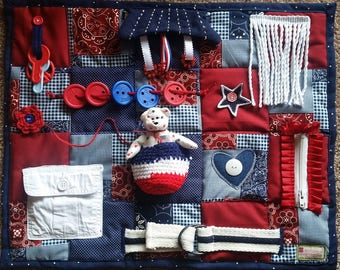 Fidget Blanket Bring on America's Red, White and Blue