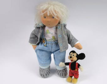 Waldorf Doll Boy with Mickey Mouse