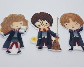 Harry Potter, Hermione Granger, Ron Weasley needle minders