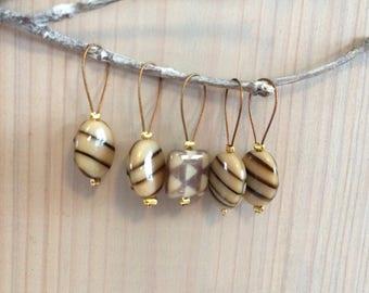 Stitch Marker Set - Lampwork Beads