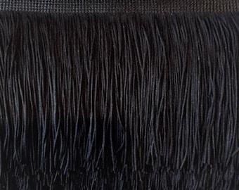 4'' Inch Long Fringe Black Chainette Fringe Price Per 2 Yards