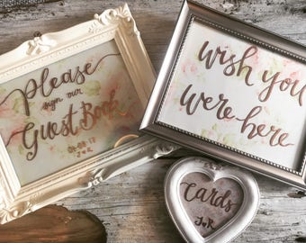 Personalised Wedding Frame - Table names / Guest book / Cards / Wish you were here