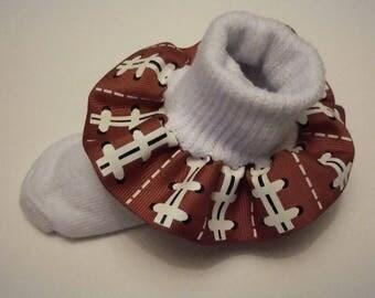 Football ruffle socks, infant ruffle socks, sports socks, school socks, cheer ruffle socks, baby ruffle socks, girls socks,