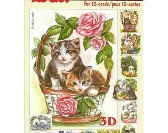 Paper sheets 3D decoupage, collage, cardmaking LES CHATS 325